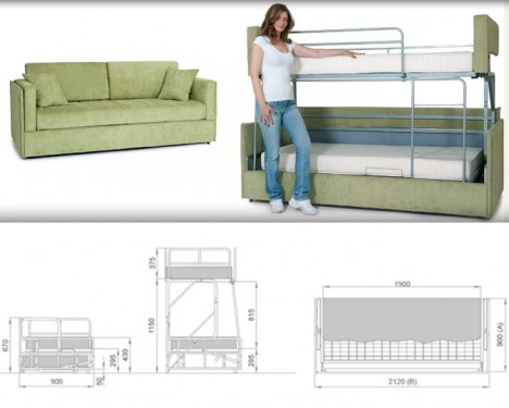Space-Saving Sleepers: Sofas Convert to Bunk Beds in Seconds | Urbanist