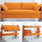 Space saving ideas with folding bunk bed   couch