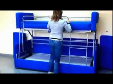 Amazing Sofa To Bunk Bed Transformation - YouTube
