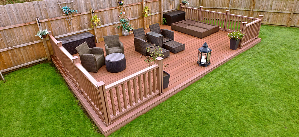 Garden decking has always been a popular garden improvement. Frequently  used an alternative to patios, low maintenance composite deck has a natural  and