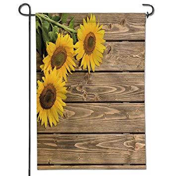 Amazon.com : Jiahonghome Garden Flag Three Sunflowers are on The
