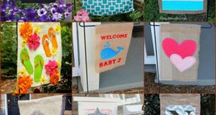 18 Adorable DIY Garden Flags for a Warm and Welcoming Home - DIY