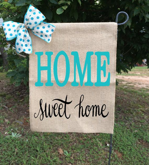 Home Sweet Home flag, Farmhouse Style Flags, Home Signs, Home Garden
