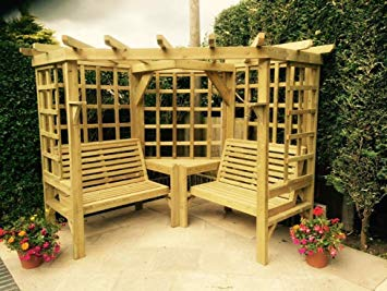 Wooden Garden Furniture Corner Arbour Garden Arbour Seat Pergola