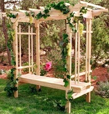 Garden Arbour Wooden Bench Trellis Seat Arbor With u2013 raquel-mac