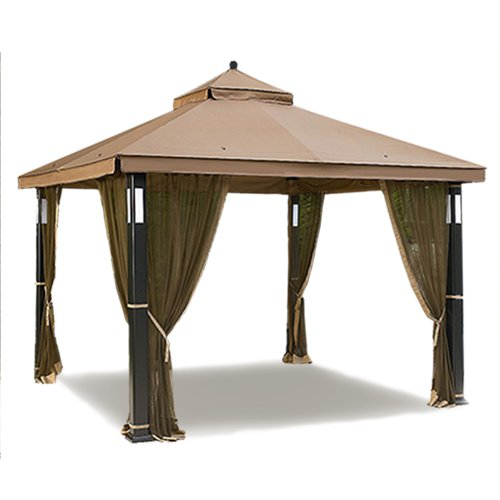 Image is loading Garden-Winds-Lighted-Gazebo-Replacement-Canopy-RipLock-350