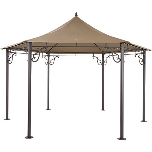 Traveller Location: Garden Winds Pacific Grove Hexagon Gazebo Replacement Canopy -  RipLock 350: Garden & Outdoor