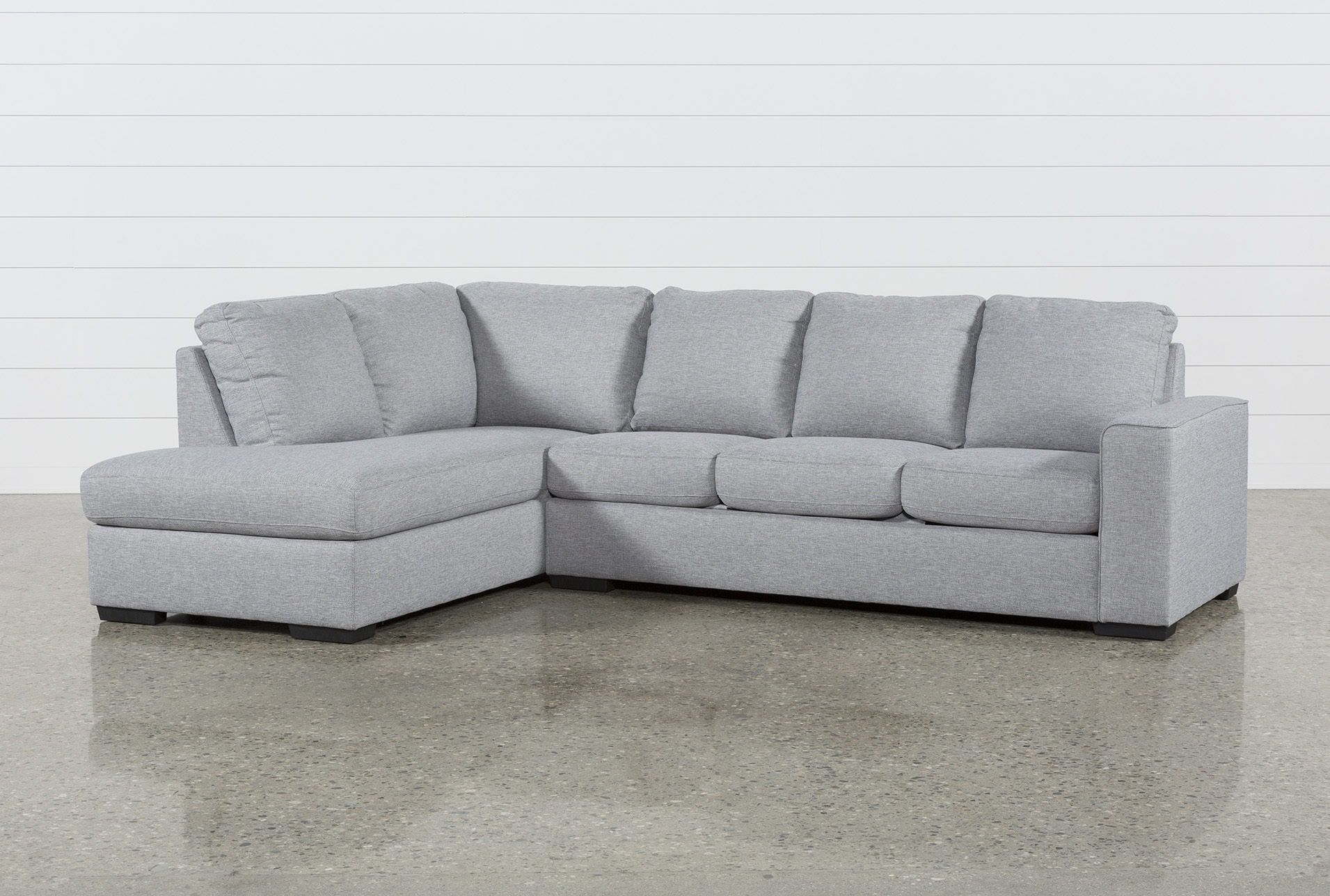 Lucy Grey 2 Piece Sleeper Sectional W/Laf Chaise