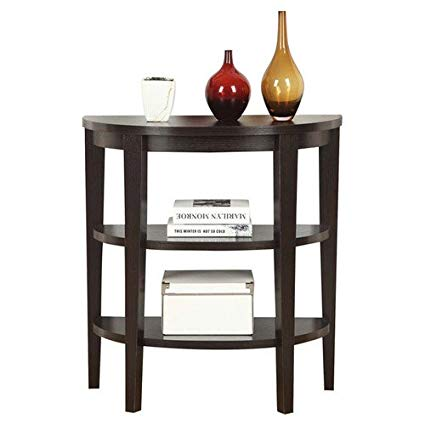 Convenience Concepts Newport Durable Half-moon Shaped Console Table I