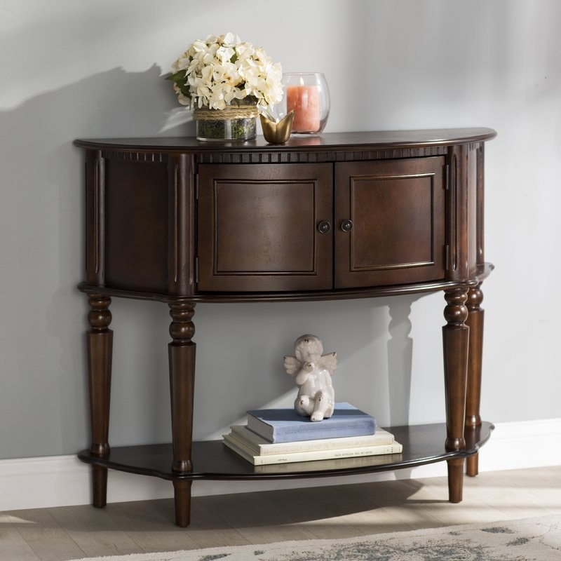 Half Moon Shaped Sofa Table | Centerfieldbar Regarding Marvellous Semi  Circle Console Table