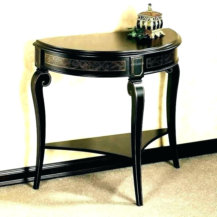 Black Entry Table Small Half Moon Console Entryway Shaped Tables