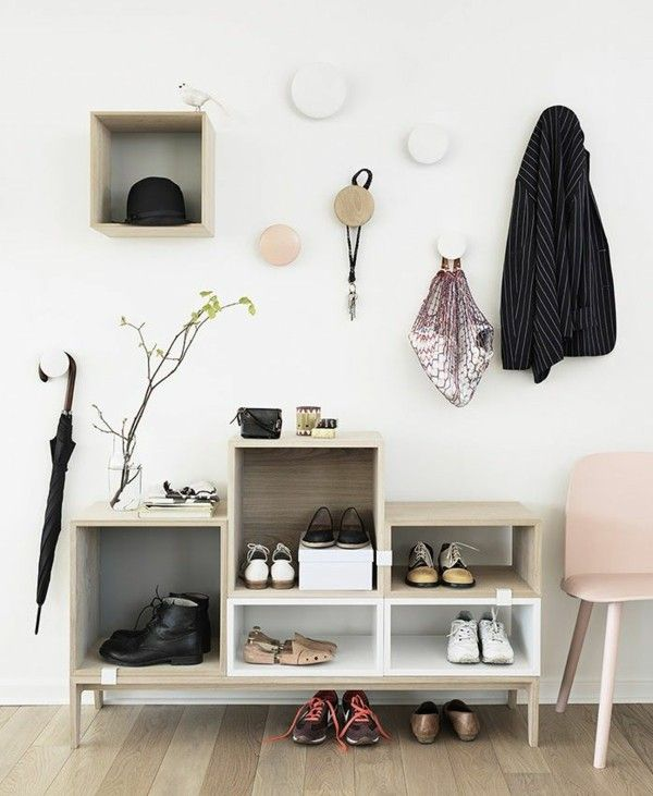 Hallway furniture Shoe cabinet Scandinavian design