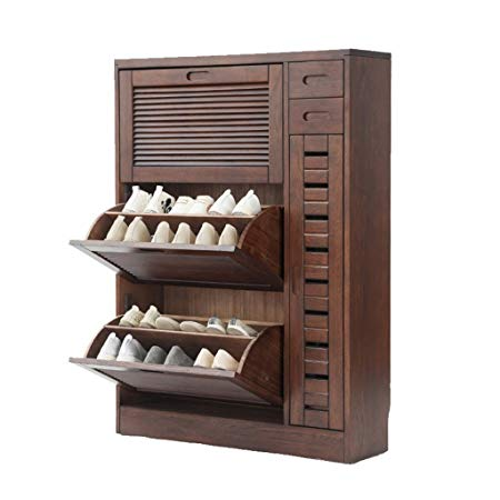 L&Y Hallway Furniture Shoe Racks Solid Wood Storage Shoe Rack Simple Modern Hall  Cabinet Entrance Cabinet