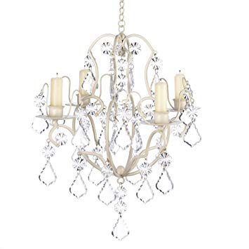 Amazon.com: Chandelier Candle Holders, Ivory White Hanging Candle