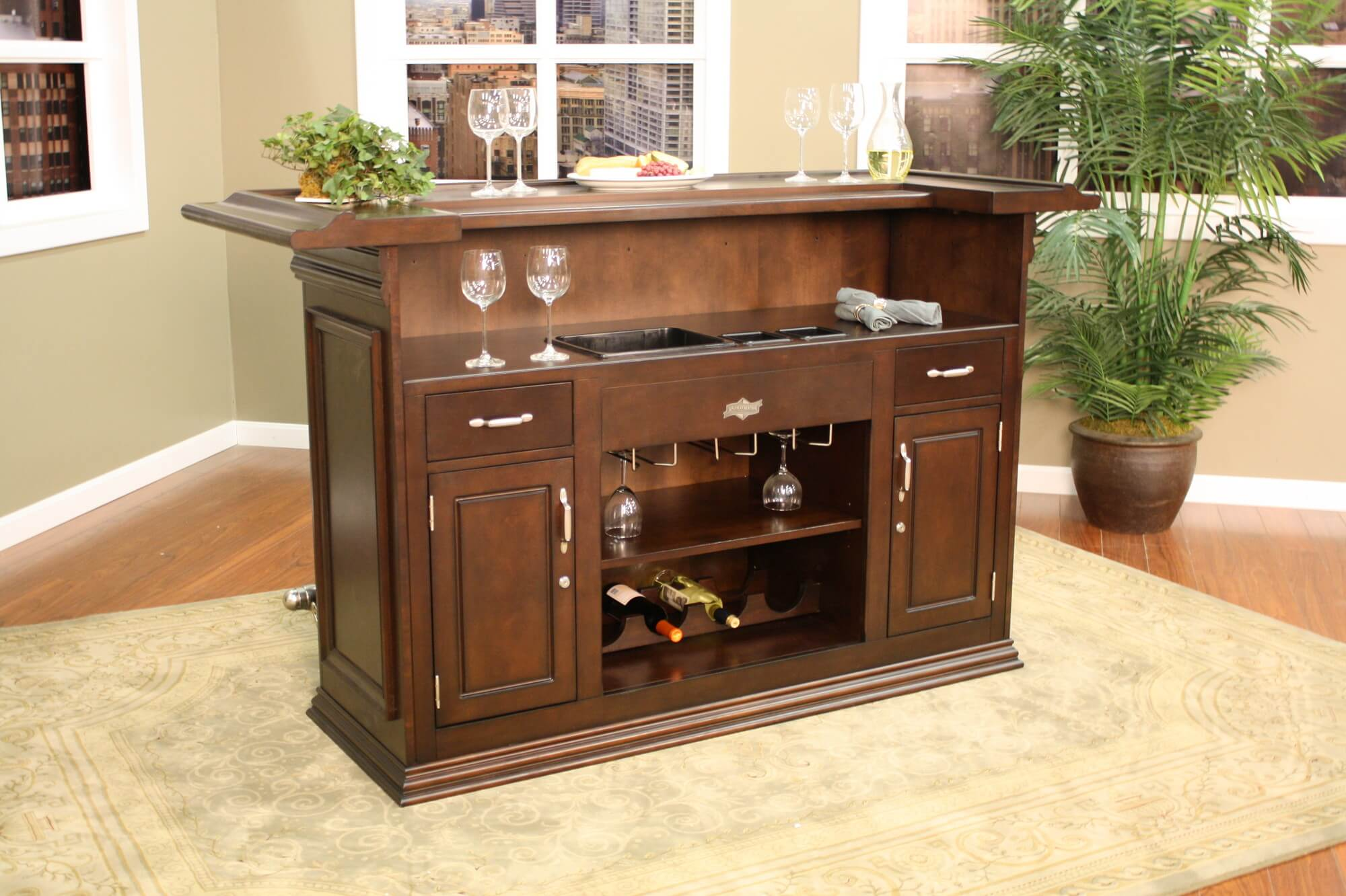 Back end view - For a smaller design, this home bar offers some great  features