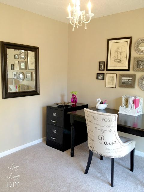 Great ideas for decorating a home office on a budget!