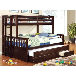 Furniture of America Rodman Twin over Queen Bunk Bed with Trundle
