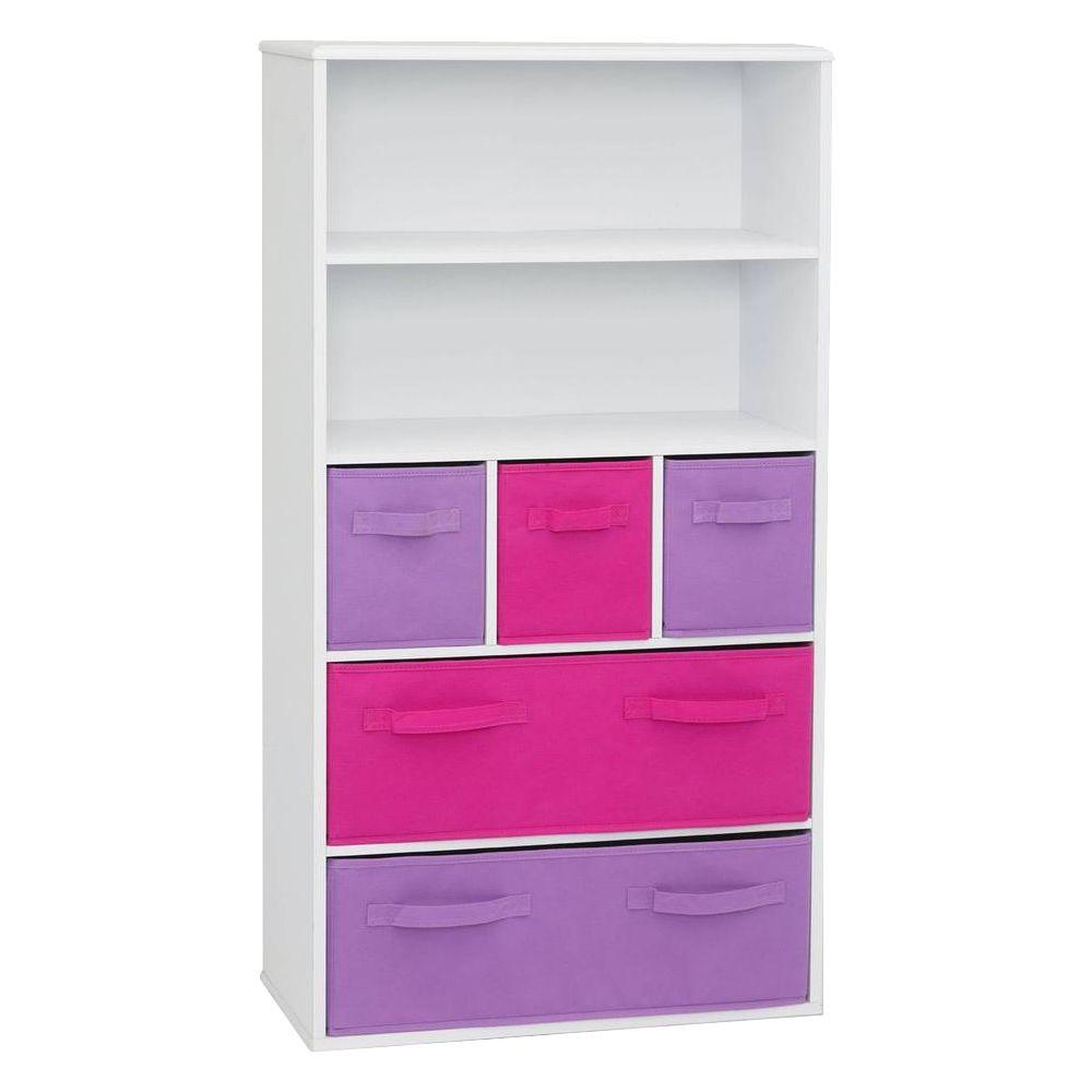 4D Concepts White Storage Kids Bookcase