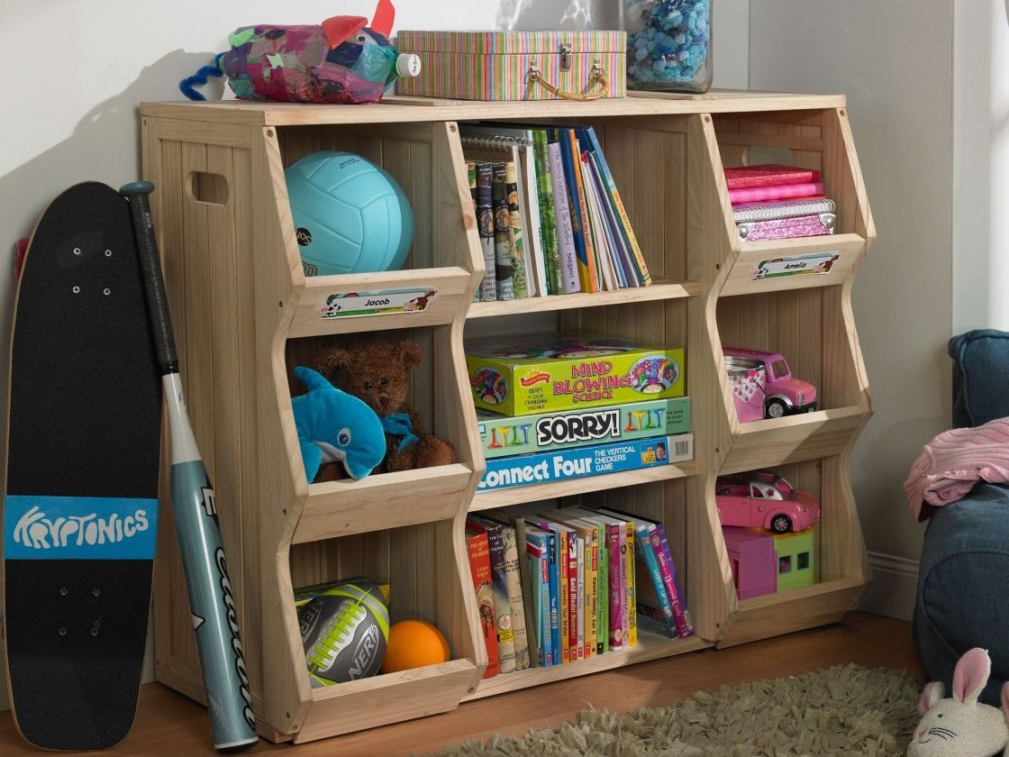 Interesting Natural Brown Pine Wood Bookshelf For Kids Room, Awesome  Charmingly Storage Shelving For Children Room: Furniture, Interior, Kids  Room