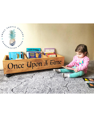 Nursery Decor, Kids Mini Library, Once Upon A Time Bookcase, Kids Bookshelf,