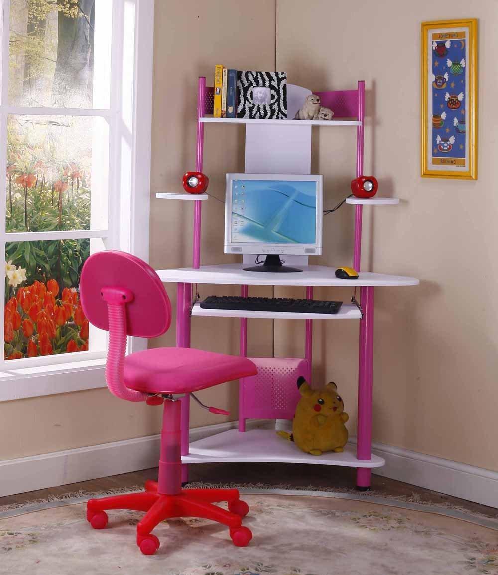 Full Size of Kids Room:modern Design White And Green Corner Computer Table  For Kids