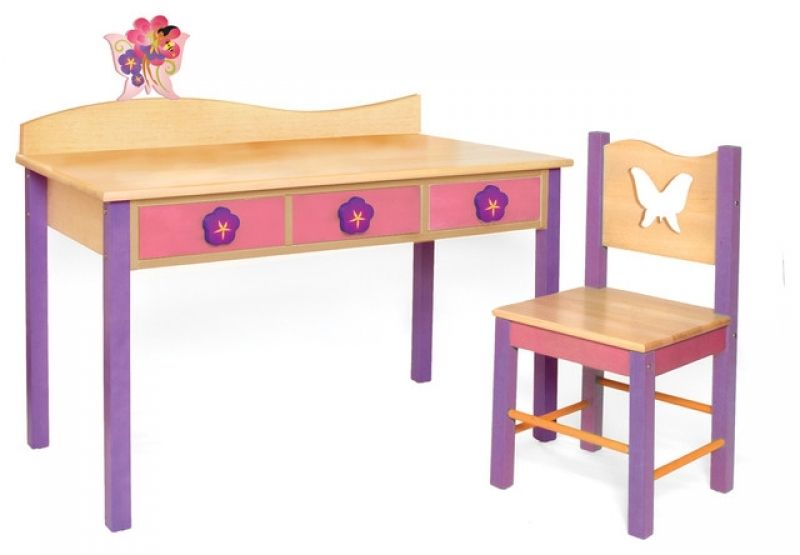 Kids Desk Chair Set Magic Garden Desk/chair Set, Natural Modern Kids