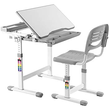 Amazon.com: Costzon Kids Desk and Chair Set, 0-40 Degree Table Top