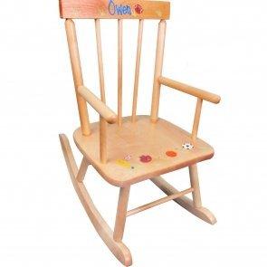 kids wooden rocking chair