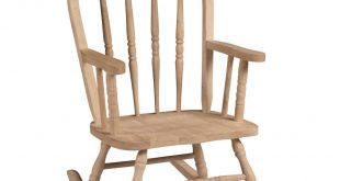 Unfinished Wood Rocking Windsor Kids Chair