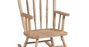 Unfinished Wood Rocking Windsor Kids Chair
