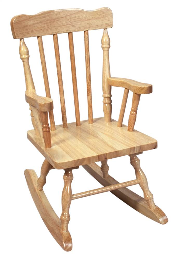 Product Image Kids Solid Wood Colonial Style Rocking Chair w Natural Finish