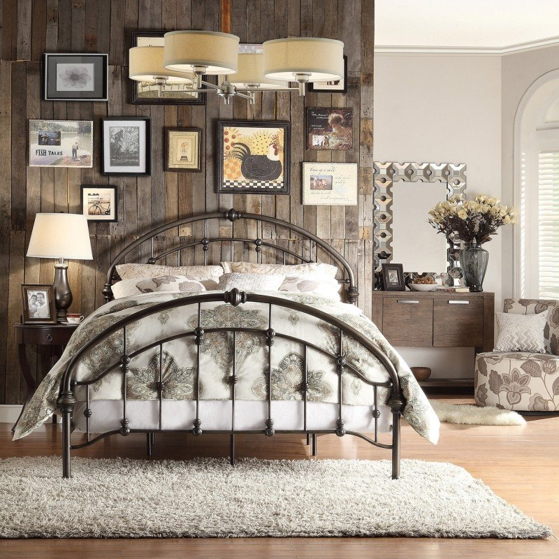 King size headboard metal
