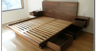 King Size Platform Storage Bed 27