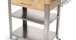 Rebrilliant Francis Kitchen Cart with Butcher Block Top & Reviews | Wayfair