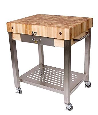 Image Unavailable. Image not available for. Color: Cucina Americana  Technica Kitchen Cart with Butcher Block Top