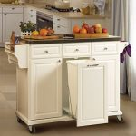 Benefits if having kitchen island cart   with trash bin