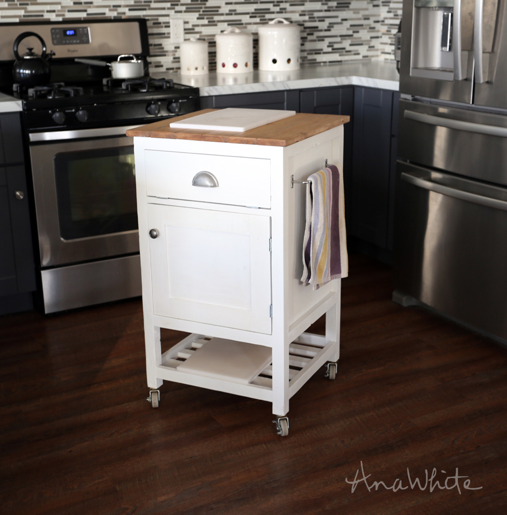 Ana White | HOW TO: Small Kitchen Island Prep Cart with Compost - DIY  Projects
