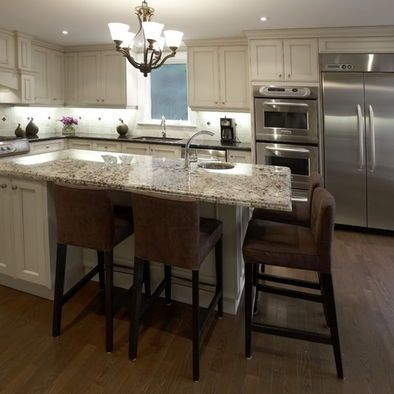 Tips for modern kitchen island designs   with seating for 4