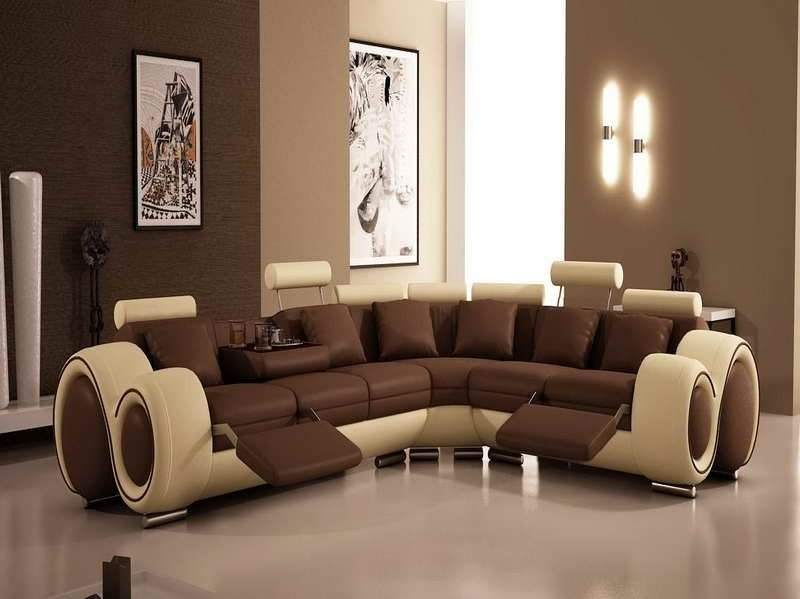 L shaped couch recliner