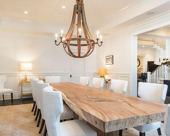 Interior Design Ideas for Dining Room Area. Love the Wooden Table.  Wonderful Fixtures and color scheme and layout along with wall decor