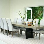 Contemporary large dining room table and   chairs should be stylish and comfortable