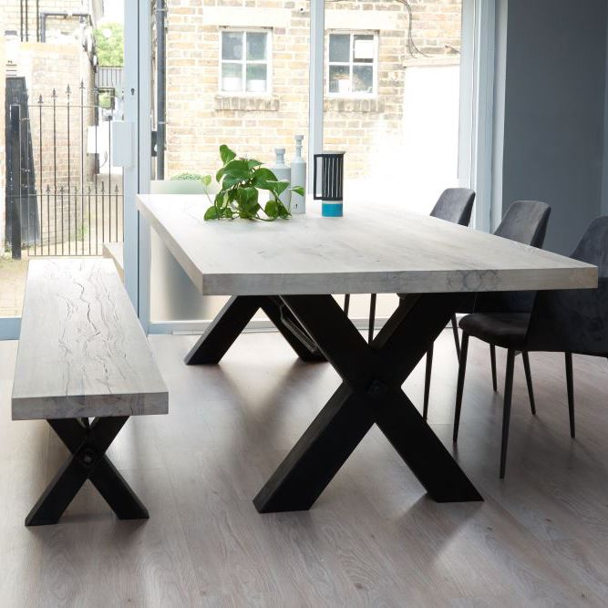 Desk Inspiration (From Stock: Bolt Solid Wood & Metal Dining Table)