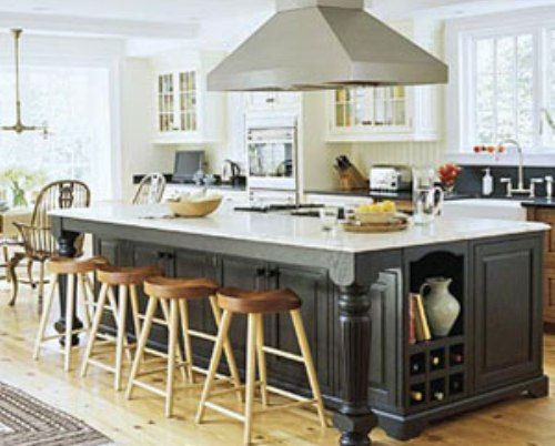 Large Kitchen Island with Seating and Storage : Kitchen Layouts with