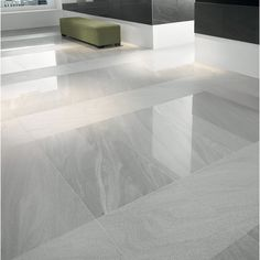 Wickes Arkesia Gris Polished Porcelain Floor Tile 600 x 600mm