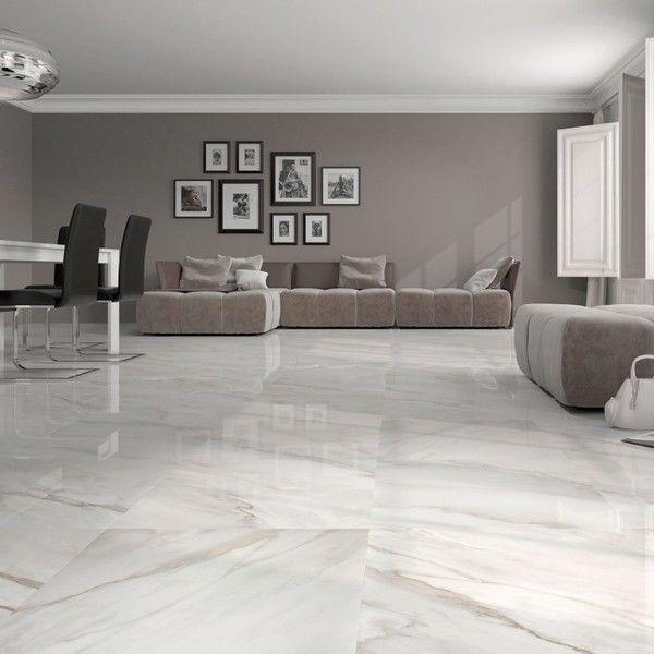 White gloss floor tiles | Large white floor tiles | Trade prices