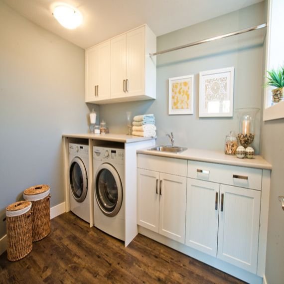 Image result for hanging rod in laundry room   Ideas for the House