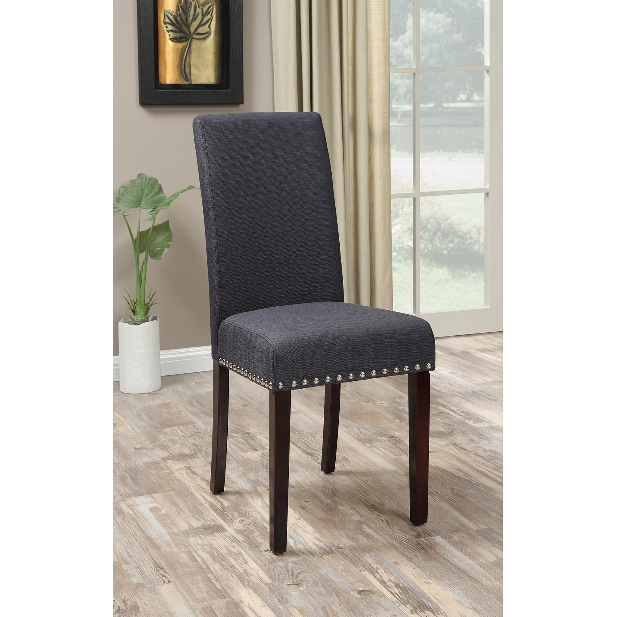 Dining Chairs Inspiring Leather Nailhead Dining Chairs