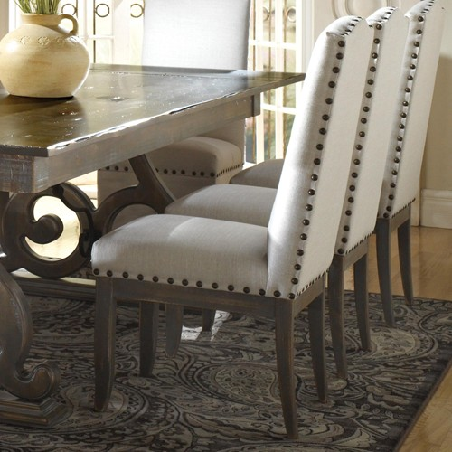 Leather Dining Room Chairs With Nailheads Pantry Versatile Prepare 12