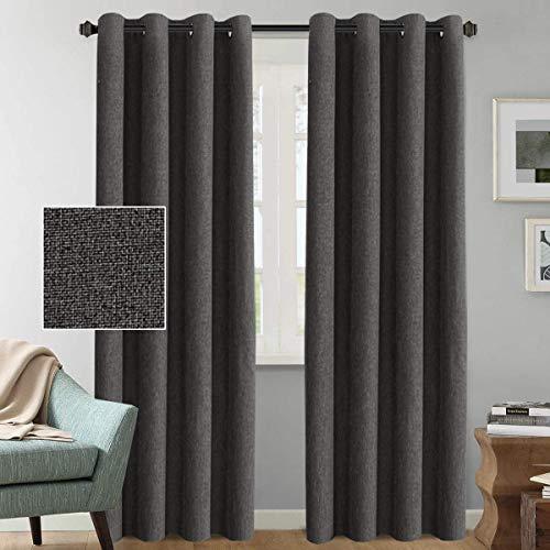 H.VERSAILTEX Rich Linen Blackout Curtains 108 Inches Long Room Darkening  Textured Linen Extra Long