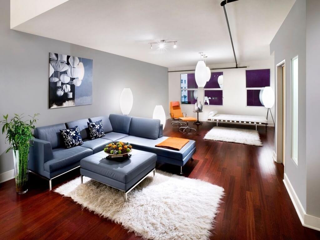 Light Fixture Apartment Living Room Ideas With Multiple Bright Lights On  Wood Veneer Floor And Bamboo